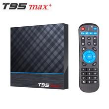 Decodificador de señal T95 MAX PLUS, Amlogic S905X3 Dispositivo de TV inteligente, Android 9,0, 4GB de RAM, 32GB 64GB de ROM, 2,4G wifi, 5G, Bluetooth, 4K, UHD, vs H96 MAX