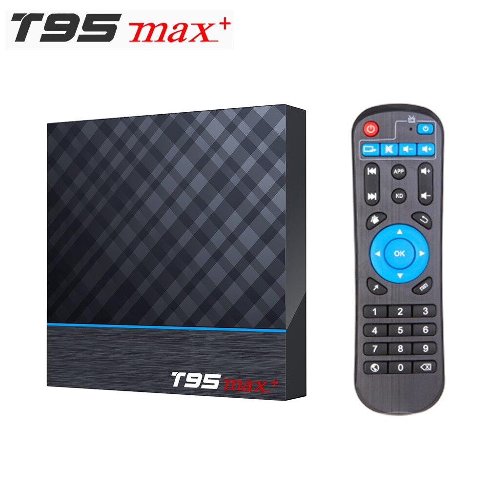 T95 MAX PLUS Amlogic S905X3 Smart TV BOX Android 9.0 4GB RAM 32GB 64GB ROM 2.4G 5G Wifi Bluetooth 4K UHD Set Top Box Vs H96 MAX