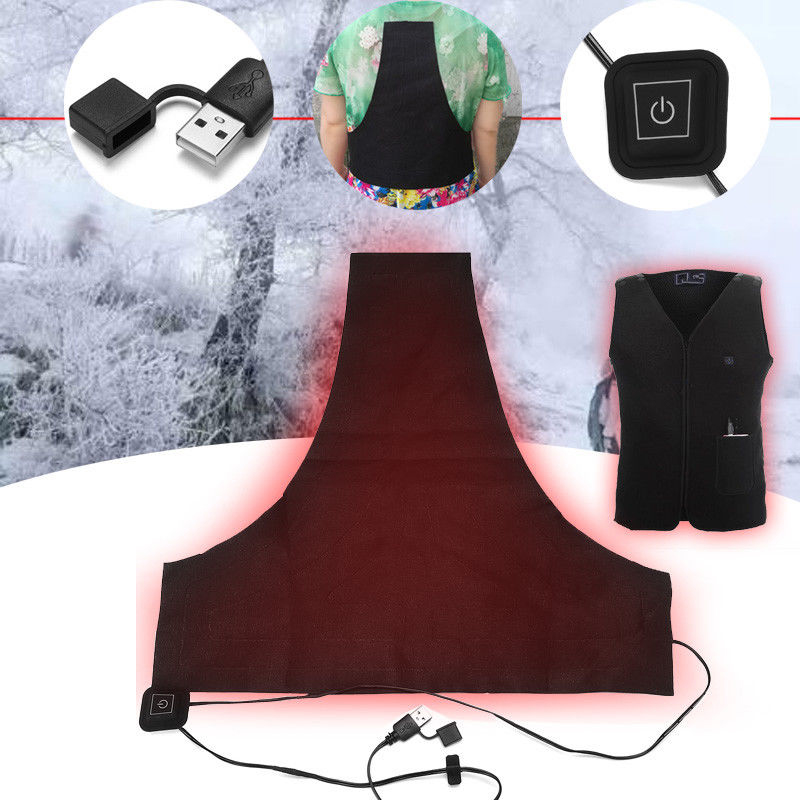 Electric Heating Vests USB Charging Heated Pads Cloth 3 Gear Temp Heating Thermal Clothes Flexible Charged  Warmer Jackets