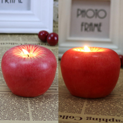 Lovely Red Design for Apple Shape Fruit Scented Candles Christmas Eve Gifts Christmas Day Gifts Christmas Creative Home Decor 2