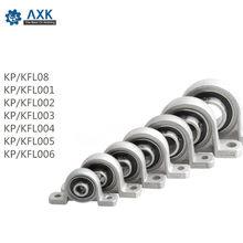 Travesseiro de rolamento esferas, 4 unidades, diâmetro da liga de zinco 8mm a 30mm, suporte montado kfl08 kfl000 kfl001 kp08 kp000 kp001 kp002