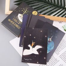 Greeting-Post-Card Gift Glow-In-The-Dark Vintage Xmas 30pcs Moon-Light Novelty Luminous