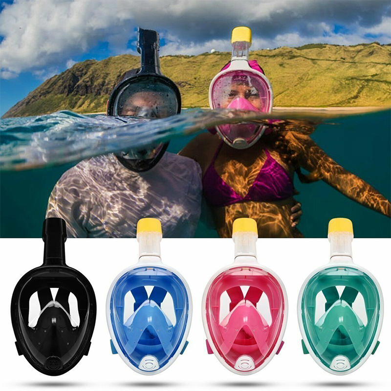 Adult Children Foldable Detachable Silicone Antifog For Swimming Goggles Full Face Snorkeling Mask Mascara Scuba Diving Tools