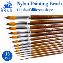 Buy 13Pcs/set Nylon Hair Oil Paint Brush Round Pointed Tip Paint Brushes Artist For Oil Watercolor Acrylic Painting Art Supplies directly from merchant!