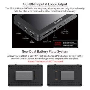 Image 5 - FEELWORLD F6 PLUS 5.5 인치 카메라 DSLR 필드 모니터 3D LUT 터치 스크린 IPS FHD 1920x1080 비디오 포커스 지원 4K HDMI 지원