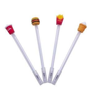 20 шт., креативная Классическая гелевая ручка для фаст-фуда, для напитков, для студентов, офиса, креативная авторучка, оптовая продажа, милые к...