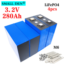 4PCS 3.2V 280Ah LiFePO4 battery12V 24V large capacity 280000mAh, used for electric scooter RV solar storage system,With Bus Bars