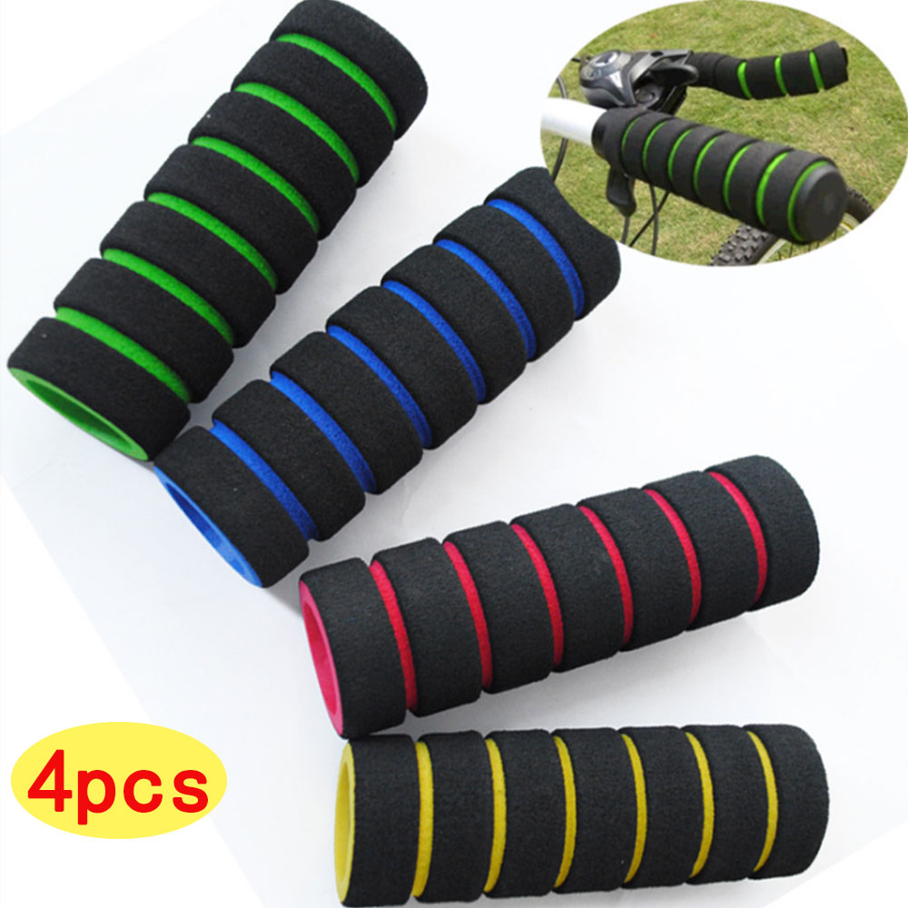 4 PCS Motorcycle Bicycle Bicycle Motorcycle Modified Handle Sponge Set Hand Handle Set Battery Car Sponge Set Grip