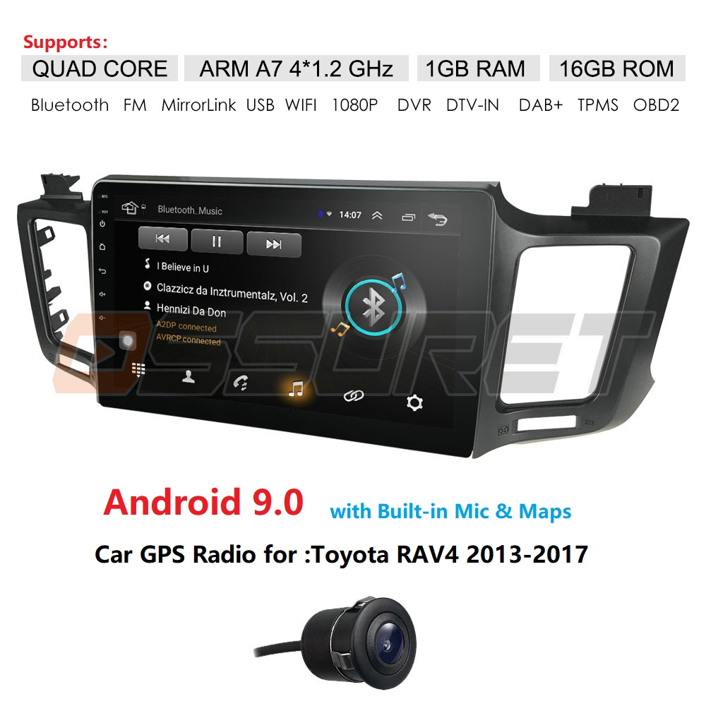 Android 9 head unit 4G Car Radio Multimedia Video Player Navigation GPS For <font><b>Toyota</b></font> <font><b>RAV4</b></font> <font><b>Rav</b></font> <font><b>4</b></font> 2013 <font><b>2014</b></font> <font><b>2015</b></font> <font><b>2016</b></font> <font><b>2017</b></font> Cam wifi image