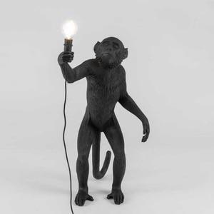 Image 3 - Wongshi現代黒猿麻ロープペンダントライトファッションシンプルなアート北欧レプリカ樹脂selettiぶら下げ猿ランプ