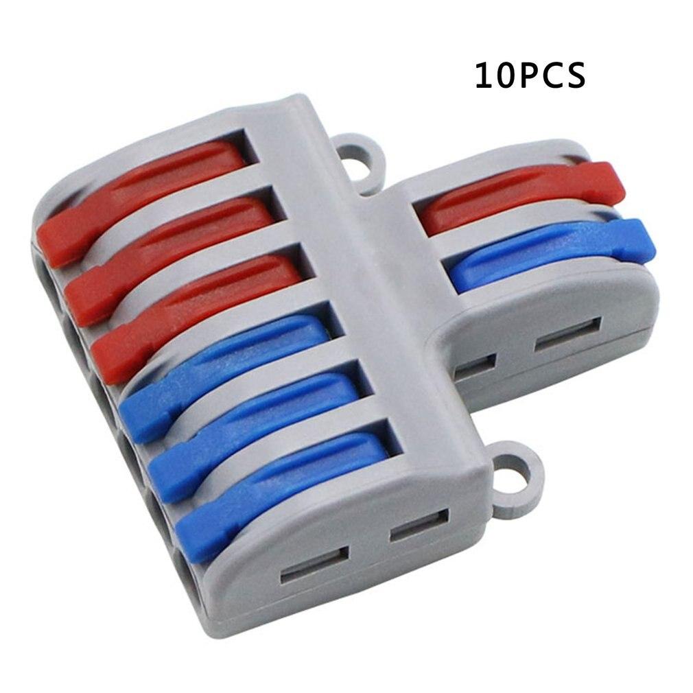 Мини Быстрый Соединитель проводов Универсальный Кабельный соединитель проводки Push-in проводник клеммный блок жесткий провод разъем