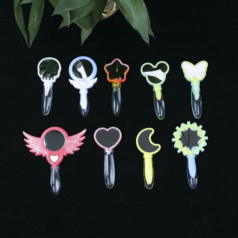 DIY Crystal Epoxy Different Shapes Small Magic Fairy Mirror Silicone Mold Handmade Table Set Toy Magic Wand