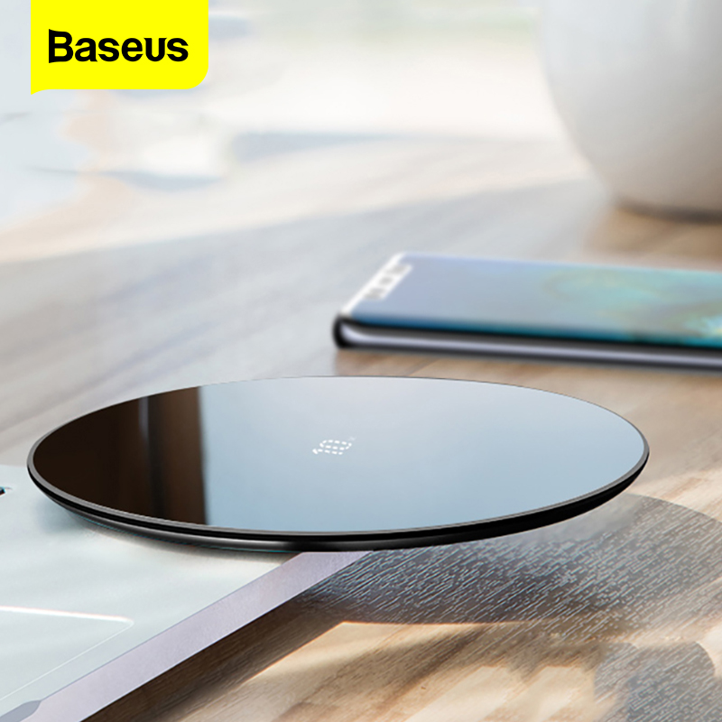 Baseus 10W Qi Wireless Charger For Huawei Mate 30 20 P30 Pro Fast Wireless Charging Pad For iPhone 11 Pro Xs Max X 8 Samsung S10|Wireless Chargers| |  - title=