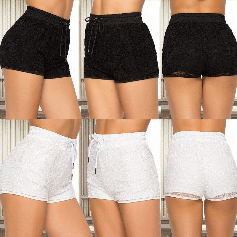 Casual Shorts Women Drawstring Shorts Summer Thin Short Fashion Shorts Strap Waistband Pocket Shorts