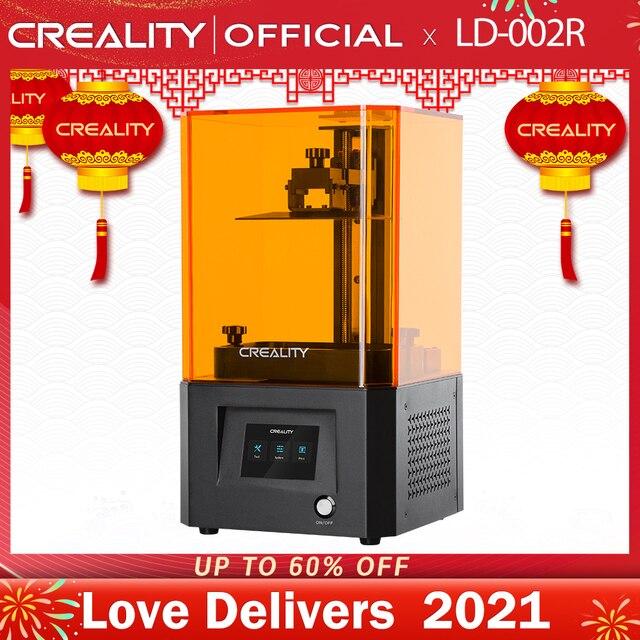 Imprimante 3D de créalité LD 002R résine UV imprimante 3D LCD boule de photopolymérisation Rails linéaires système de Filtration dair impression hors ligne