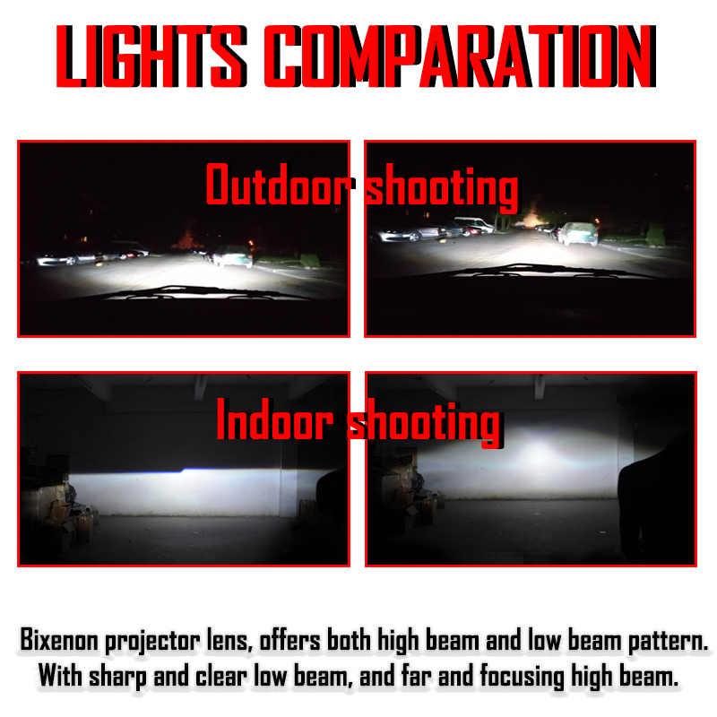 Lentille de projecteur au xénon | Mini, 2.5 pouces WST HID H1 Bi, lentille de voiture phare H4 H7 adaptateur de Base, bague de voiture, rénovation bricolage