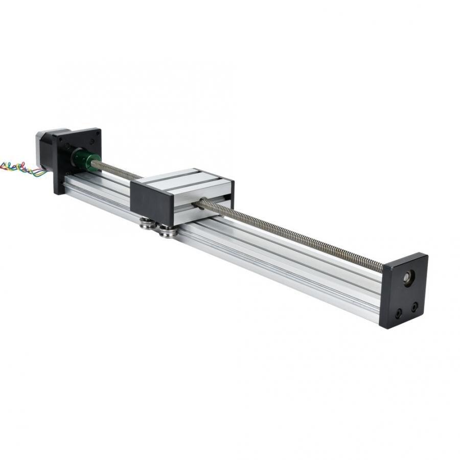 Guide de Module roulement linéaire en alliage d'aluminium 0808 vis à billes simple arbre trapézoïdal linéaire Rail coulissant avec 57 moteur linéaire