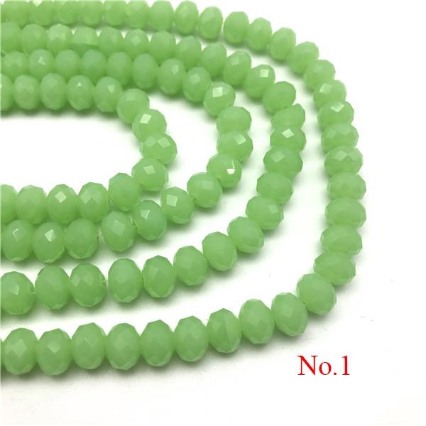 3x4 мм/4x6 мм/6x8 мм Хрустальные Круглые граненые стеклянные бусины для самостоятельного изготовления ювелирных изделий Аксессуары для ювелирных изделий - Цвет: No.1