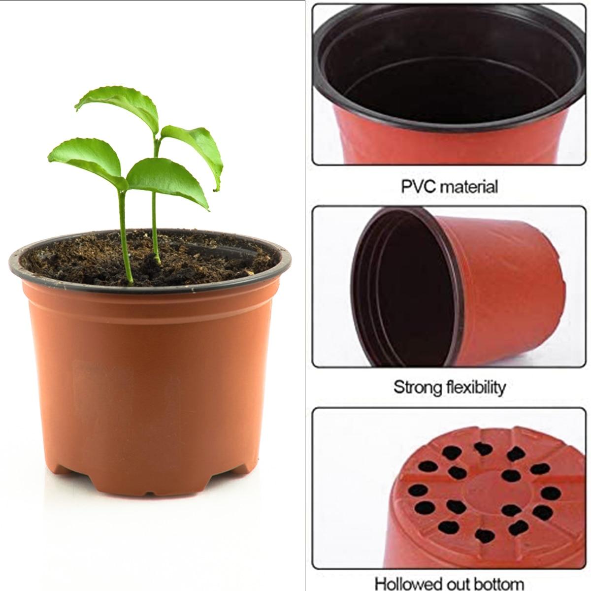100Pc Flower Pot Plastic Plant POTS Desktop Potted Green Plant Garden Kindergarten Flower Pot Home Vegetation Tools Kindergarten