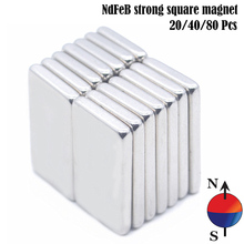 20/40/80/100pcs Powerful Neodymium Magnet 10 x 5 x 2mm  N42 Super Strong Silver Block Square Rare Earth Neodymium Magnets