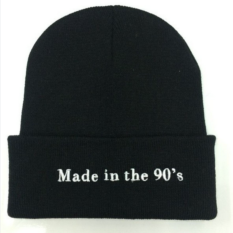 Solid Color   Beanie   For Girls Letter Embroidery Winter Knitted Hat Female Casual Hip Hop Black Cap Unisex   Skullies     Beanies   Men