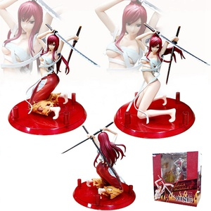 Image 3 - Fairy Tail 2 Edition Anime Erza Scarlet Doll PVC Action Figure Sexy Girl Figurine Collectible Model Decor Toys Gifts 18cm