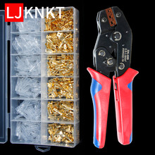 2.8/4.8/6.3mm universal spring plug wire crimped crimping hand tool connection Terminals Electrical Insulated Assortment SN-48B