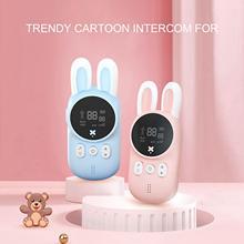 2Pcs Children Cartoon Rabbit Handheld Wireless Two Way Radio Communication Toys