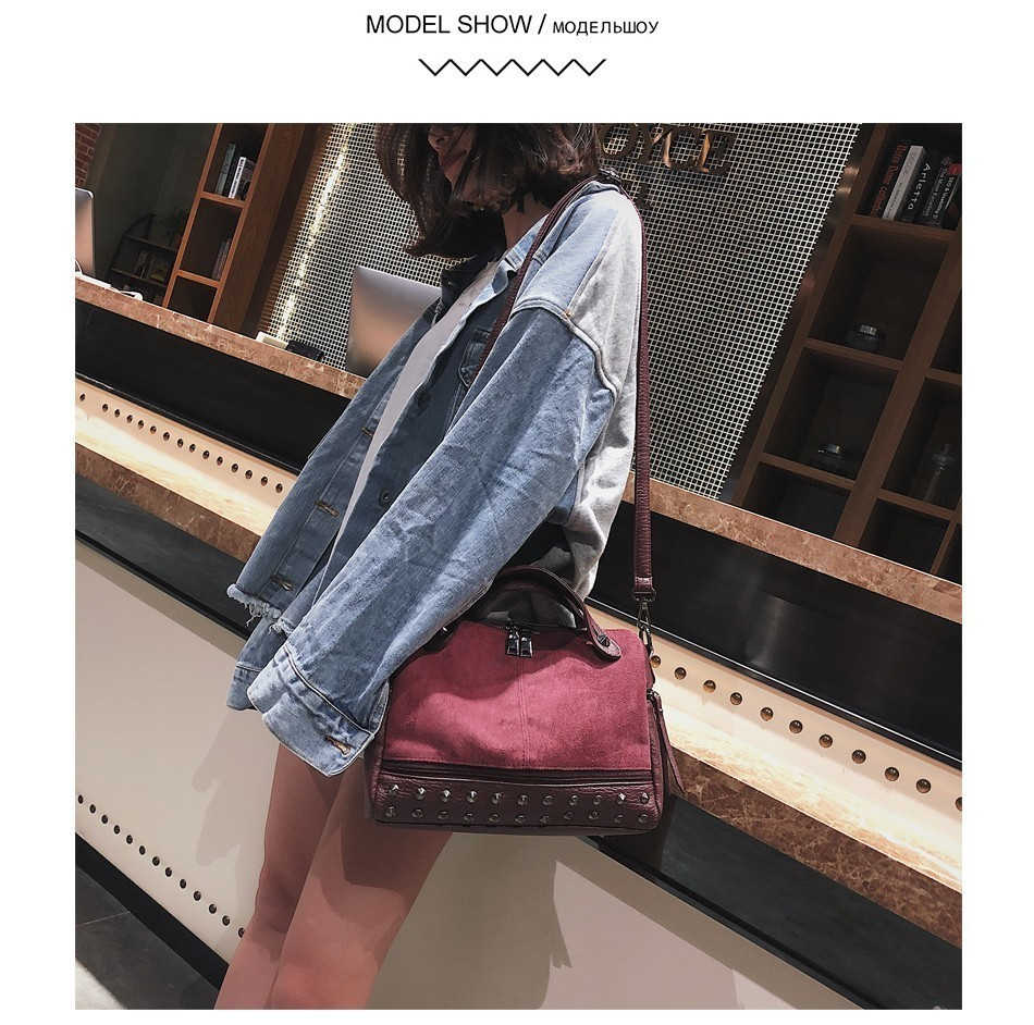 Hbd6daef80c2a421f8d59682086fd0bbfX - Fashion Women Top-handle Bags with s Large High Quality Leather Female Shoulder Bag Vintage Motorcycle Tote Bags Sac