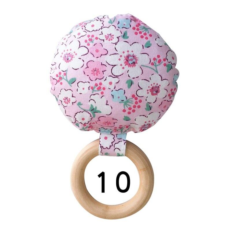 Портативный для новорожденных Детское Зубное кольцо жевательные Прорезыватель для зубов ручной безопасная, из дерева натуральное кольцо молочных зубах упражняющая игрушка в подарок - Цвет: J