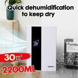 2.2L умный дом осушитель воздуха Большой экран ЖК-дисплей осушитель воздуха автоматическое ведро полное отключение очиститель с пультом дис...
