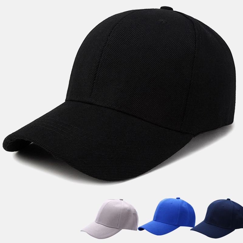 Adjustable Sports Caps Women Men Hat Curved Sun Visor Light Board Solid Color Baseball    Outdoor   In Summer