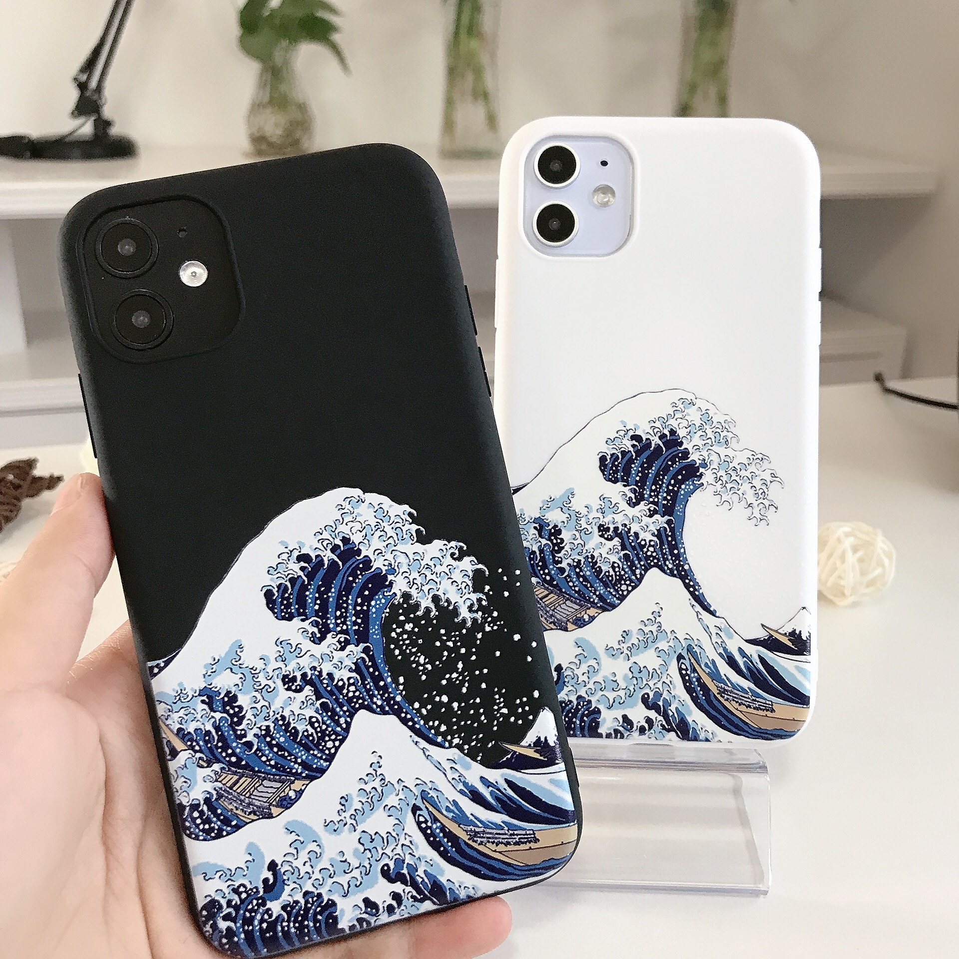 The Big Wave of kanagawa Phone Cover for iphone X XS MAX XR Soft Fundas Case For iPhone 11 pro MAX 6 7 8 Plus SE 2020 Magic Surf