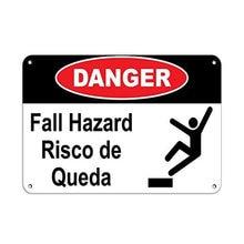 Perigo de queda perigo risco de queda queda perigo estanho sinal arte decoração da parede, vintage de alumínio retro metal sinal