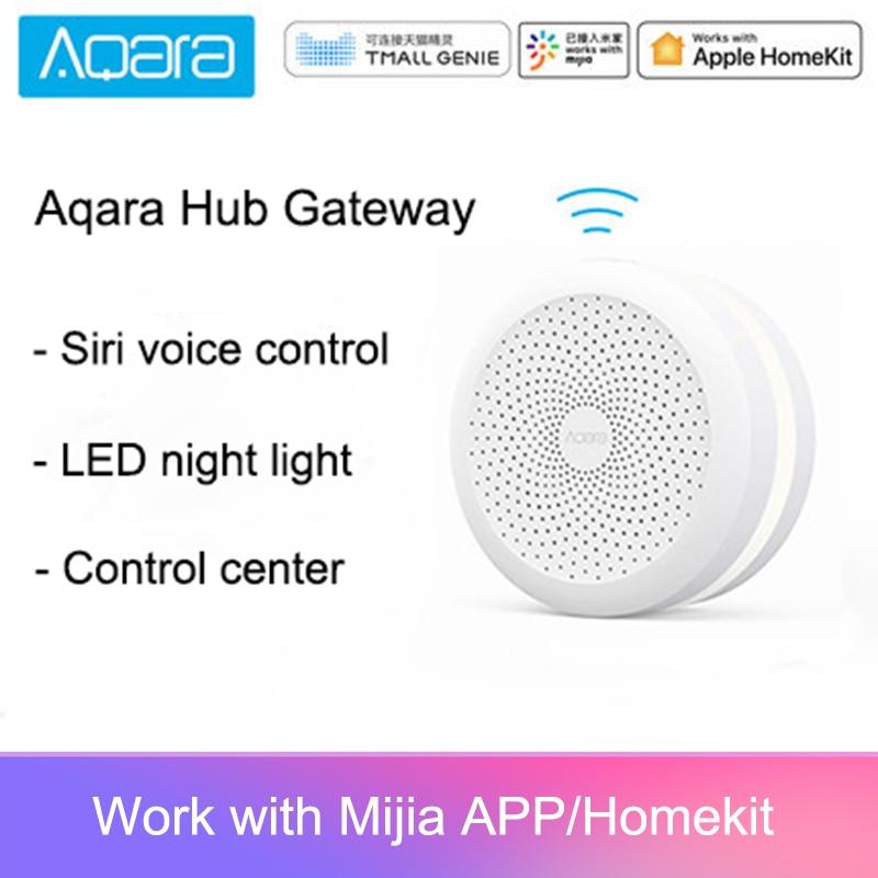 Original Mijia Aqara Hub Gateway With Led Night Light Smart Work With For Apple Homekit International Edition Gateway