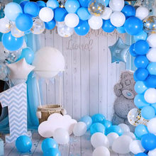 Conjunto de balões de látex 113 peças, balões de ar rosa e azul para decoração de casamento, chá de bebê, primeiro aniversário, festa de menino suprimentos