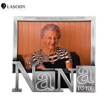 Marco de fotos Vintage 4x6 antiguo en forma de PaPa/en forma de NaNa/Marco de fotos en forma de corazón con frontal de cristal para decoración del hogar