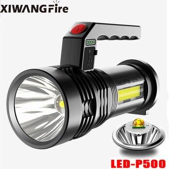Самый мощный светодиодный фонарик XIWANGFIRE с несколькими режимами, USB + cob фонарь + COB босветильник светильник со встроенным аккумулятором для лучшего кемпинга и активного отдыха