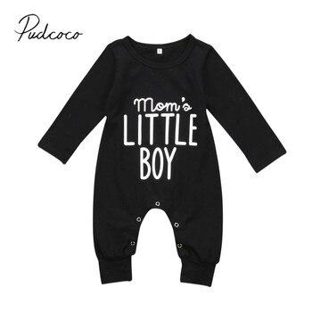 Женский комбинезон с длинными рукавами Pudcoco, черный комбинезон с длинными рукавами для новорожденных, 2019