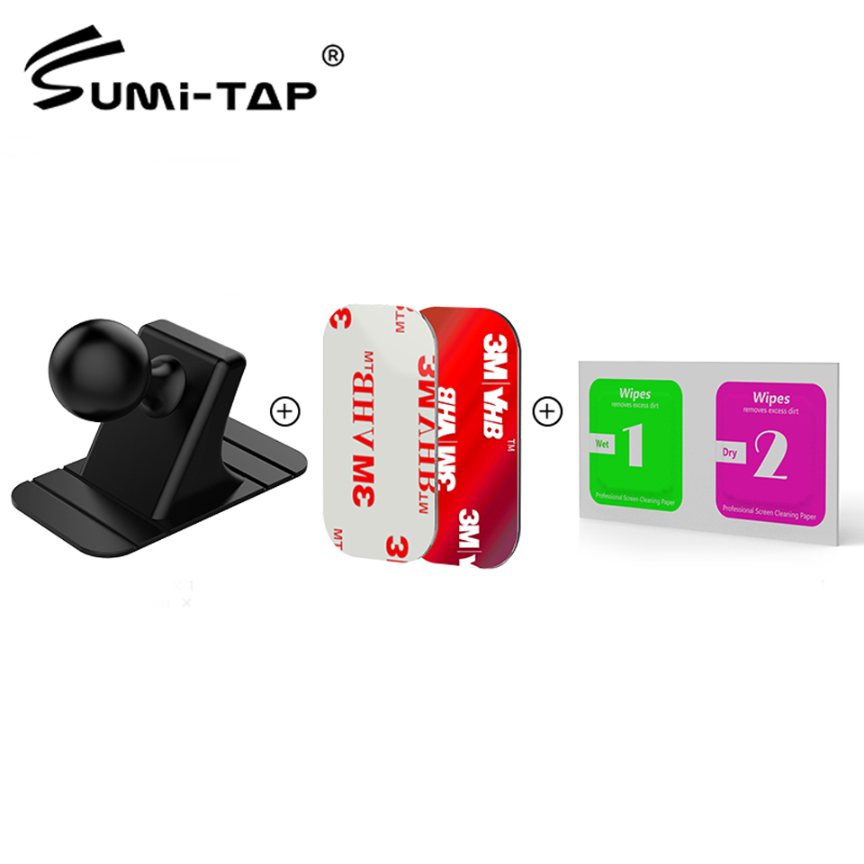 Sumi-tap Car Suction Holder Base Disk 17mm Ball Head 3M Sticker For Car Phone Holder Universal Stands Magnetic Gravity Dashboard