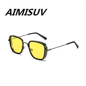 Image 4 - AIMISUV בציר כיכר משקפי שמש גברים מקוטב אופנה מתכת פאנק Glassses כביר סינג שמש משקפיים זכר UV400