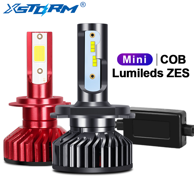 Mini H4 H7 LED Canbus With Lumileds ZES Chips Car Headlight Bulbs H1 Led H3 H8 H11 9005 HB3 900 HB4 H27 Auto Lamp 12000LM