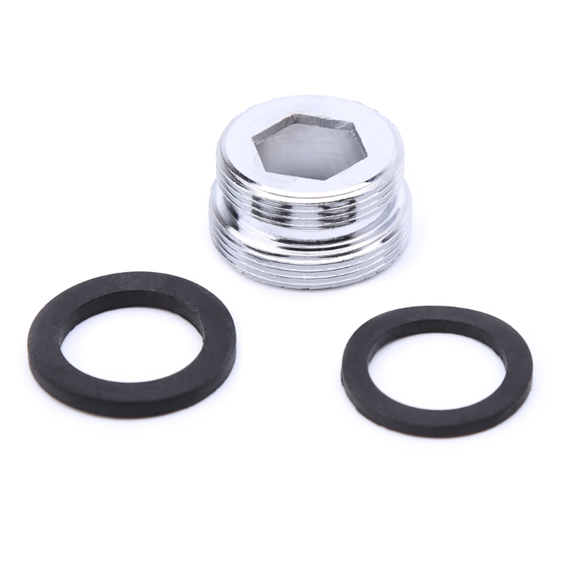 Solid Metal Adaptor Outside Thread Water Saving Kitchen Faucet Tap Aerator Connector E65B