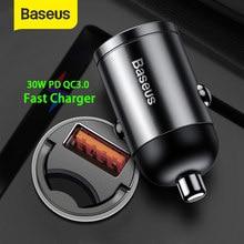 Baseus 30W Auto Ladegerät Dual USB Typ C Schnelle Ladegerät PD 4,0 3,0 SCP AFC Schnell Lade Mini Adapter für Samsung iP HUAWEI Xiaomi