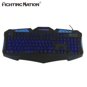 Image 4 - Russian Backlit Illuminate Gaming Keyboard Fighting Nation Russia Layout Letter Computer Wired USB LED Backlight Game Gamer