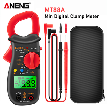 ANENG MT88A Digital Clamp Meter Multimeter DC/AC Voltage AC Current Tester Frequency Capacitance NCV Test dc ac smart full auto range digital multimeter ncv frequency temperature capacitance tester pm8247s pm8248s