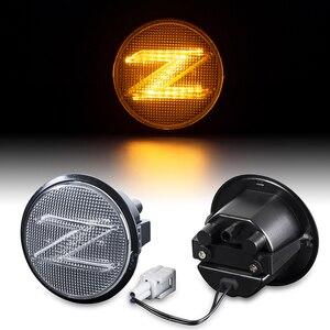 2 шт. динамический Янтарный боковой габаритный указатель поворота светодиодные боковые Габаритные автомобилей светодиодных фонаря для Nissan...