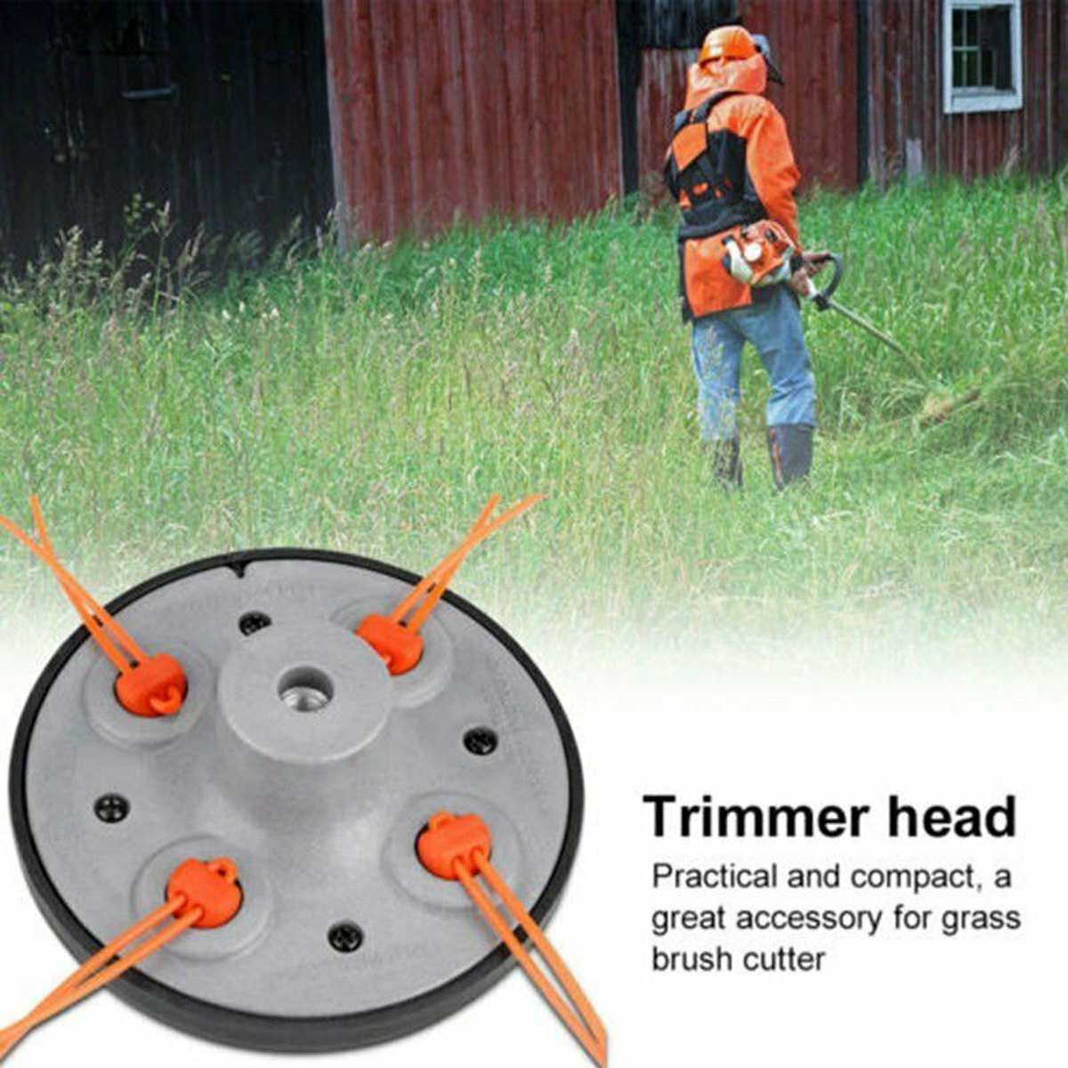 Bump Feed Pro Grass  String Trimmer Head Line Precut Pre Cut For Pivotrim Grass Mower Brush Cutter Parts Universal