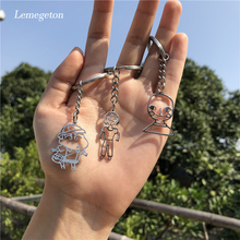 Lemegeton Customized Children's Drawing Key Chain Stainless Steel Kid's Art Personalized Keyring Key Holder Kids Gifts