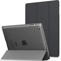 Für iPad 3 fall A1416 A1430 A1403 Leichte Abdeckung für iPad 2 3 4 Retina DISPLAY Transluzent Matt Back Shell auto Schlaf/Wake